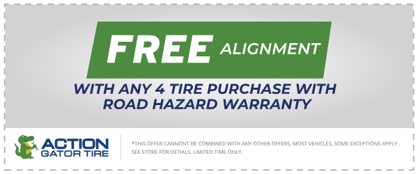 Free Alignment with Purchase!