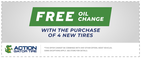 Free Oil Change w/ Purchase of 4 New Tires