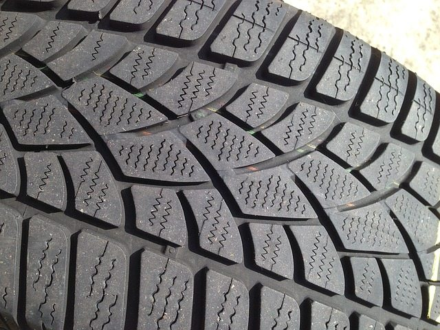 car tire shop close up tire tread