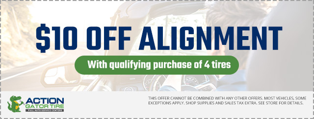 $10 OFF Alignment with qualifying purchase of 4 tires Offer